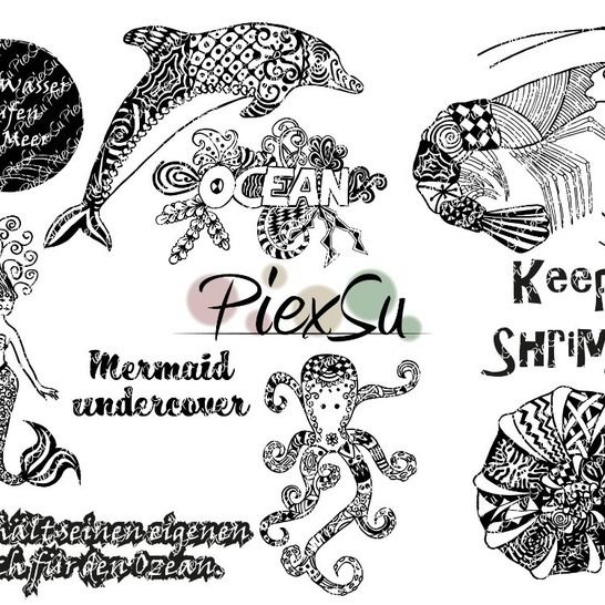 "DXF, SVG Cutting File Set ""Into the ocean"" by PiexSu at Makerist - Image 1"