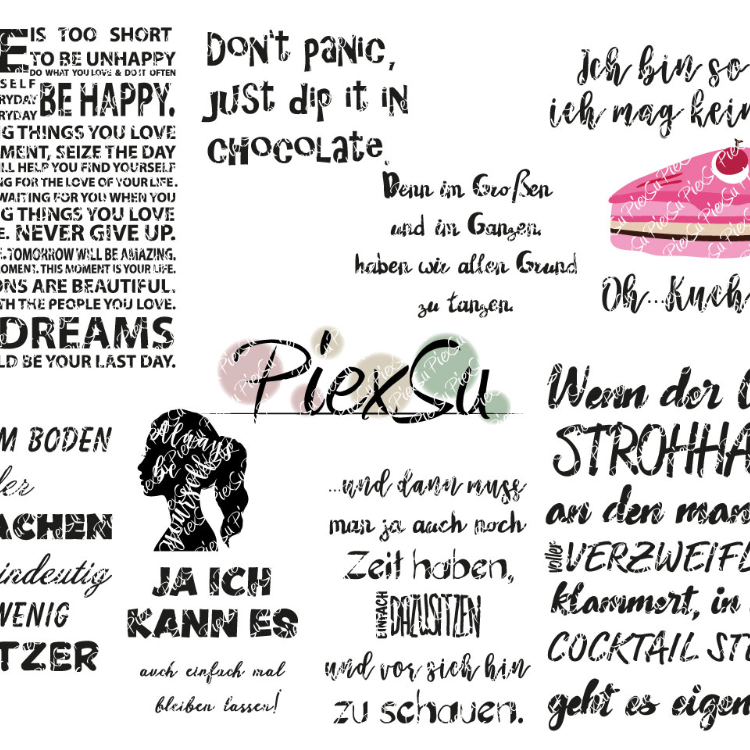 "DXF, SVG Cutting File Set ""Statement Plotts"" by PiexSu"