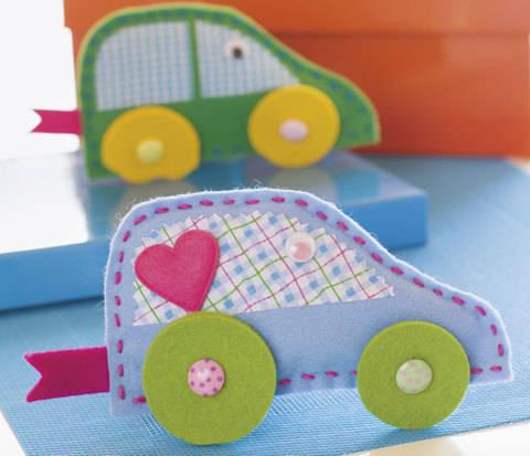 Fröhlich-buntes Spielauto Nähanleitung mit Schnittmuster