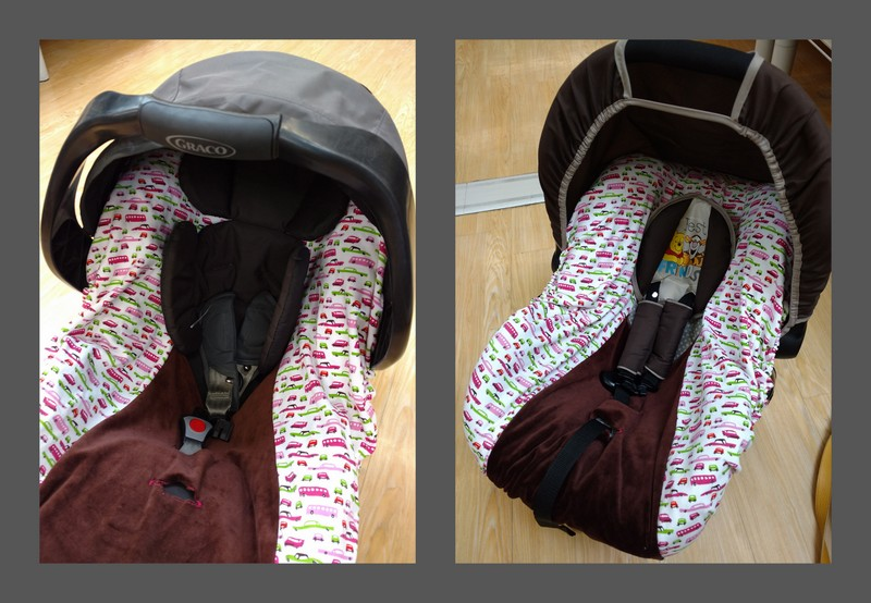 Housse pour coque auto (chicco synthesis, graco junior, streety fix, hauck duo viper) )
