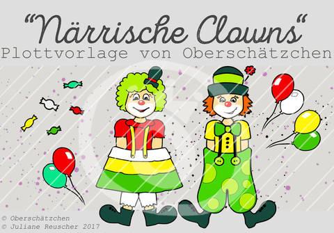 Plotterdatei Plottvorlage Clowns Karneval Fastnacht bei Makerist