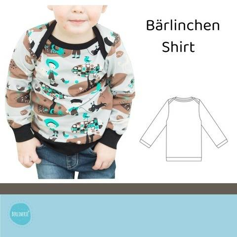 Ebook Shirt + Kleid Bärlinchen Gr. 62-92