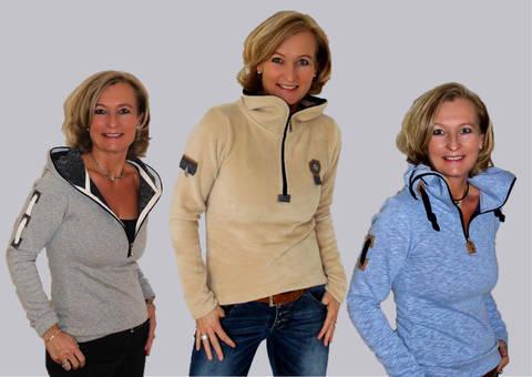 BeeMyChoice No.3 Shirt + RV Kapuze BMC3 + Shirt Kapuze und Kragen mit rundumlaufenden Reißverschluss