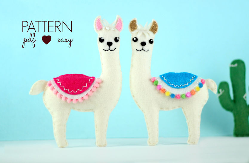 Llama Felt Sewing Pattern  at Makerist - Image 1