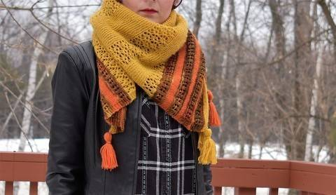 """Versatile Blanket scarf / square shawl""  at Makerist"