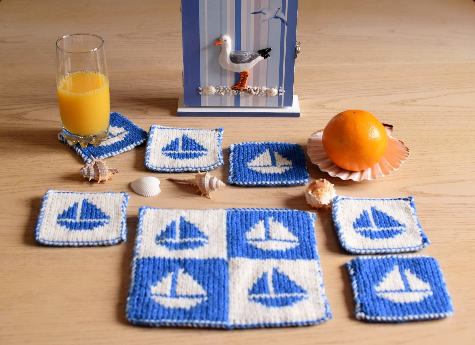 Boat Coasters and Table Mat