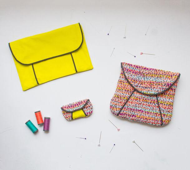3 patrons de pochettes avec passepoil chez Makerist - Image 1