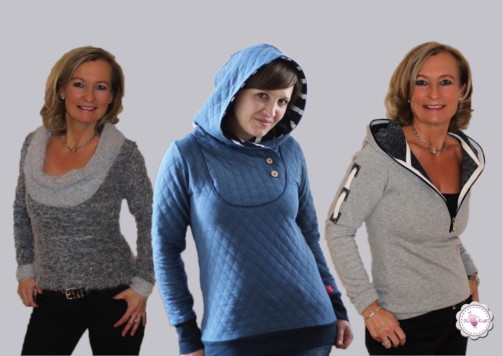 BeeMyChoice Shirt + No.1 + No.2 + No.3 Basis Schnittmuster und 3 Erweiterungen BMC Shirt