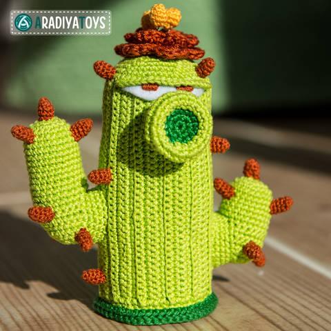 Modèle au crochet de Cactus de «Plantes vs. Zombies»