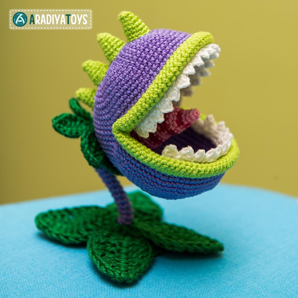 Modèle au crochet de Mordeur de «Plantes vs. Zombies»