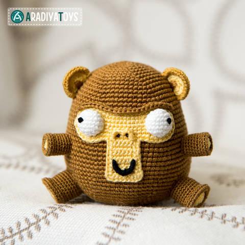 Modèle au crochet du Singe Elnino «AradiyaToys Design»