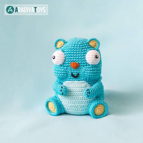 Modèle au crochet de l' Ours Diego de «AradiyaToys Design»