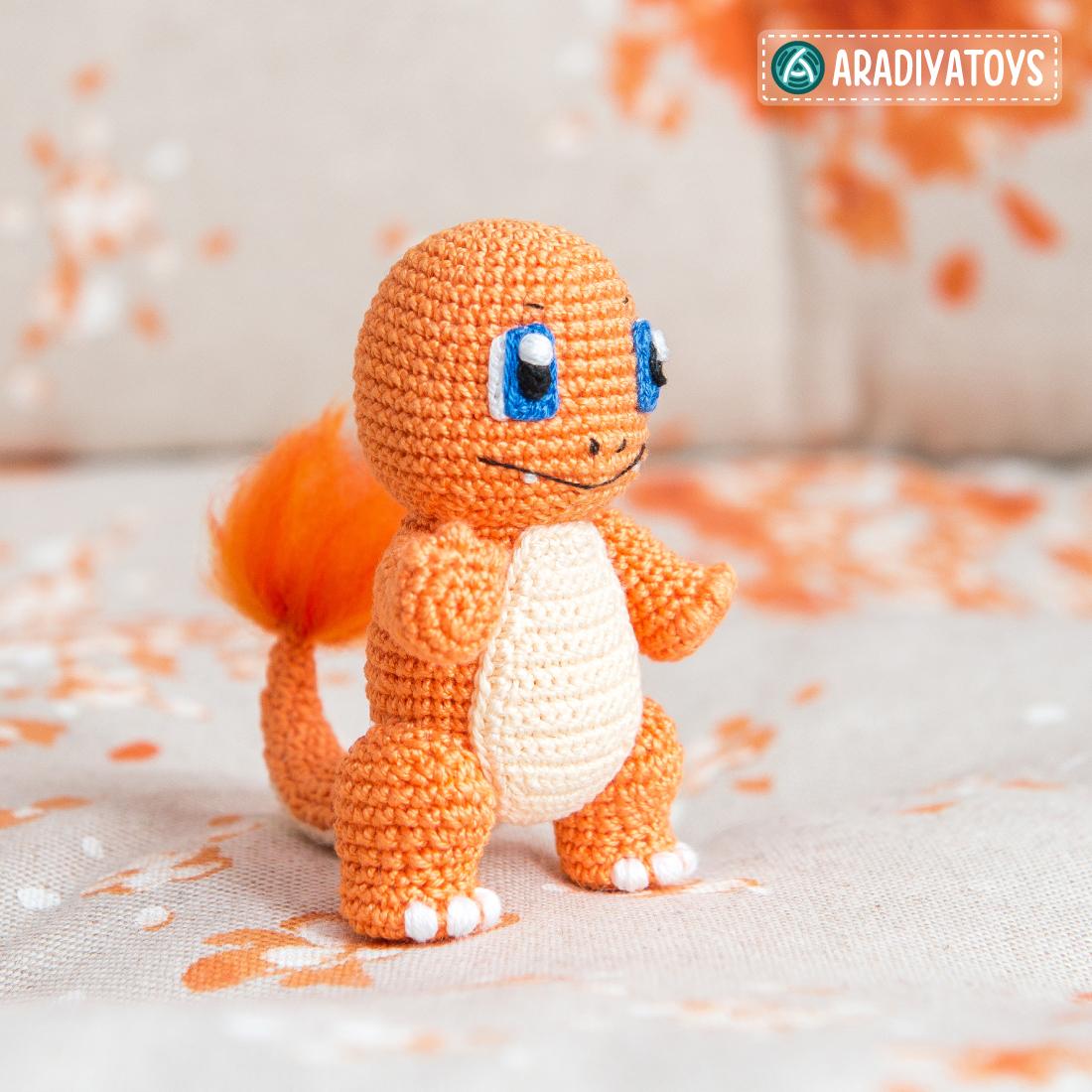 Modèle au crochet de Salamèche de «Pokemon»