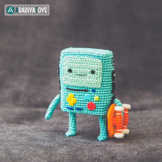 Modèle au crochet de BMO de «Adventure Time» chez Makerist - Image 1