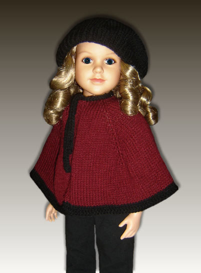 "Cape and Beret, 23"" dolls at Makerist - Image 1"