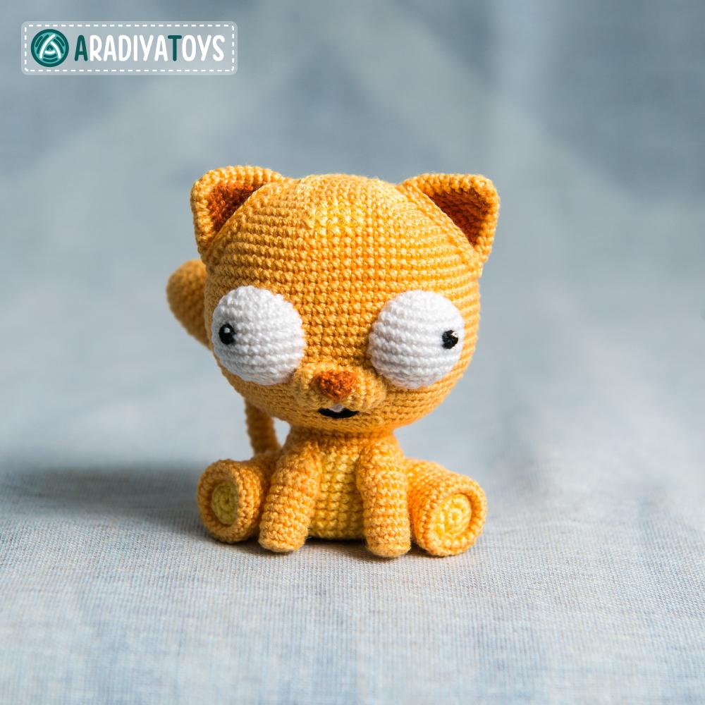 Modèle au crochet du Chat Martin de «AradiyaToys Design»