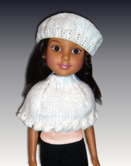 "Capelet and Beret for 18"" slim dolls. BFC Ink. at Makerist - Image 1"