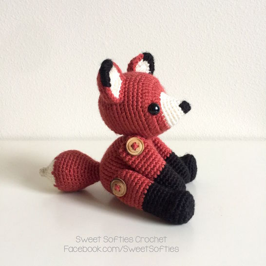 Fletcher the Fox - Amigurumi Crochet Woodland Forest Stuffed Animal with Button Jointed Movable Limbs at Makerist - Image 1