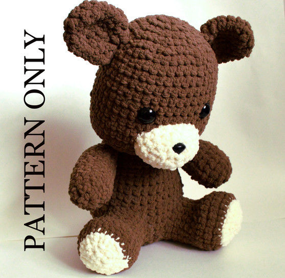 Teddy Bear Crochet Pattern.  Giant, Soft, and Huggable at Makerist - Image 1