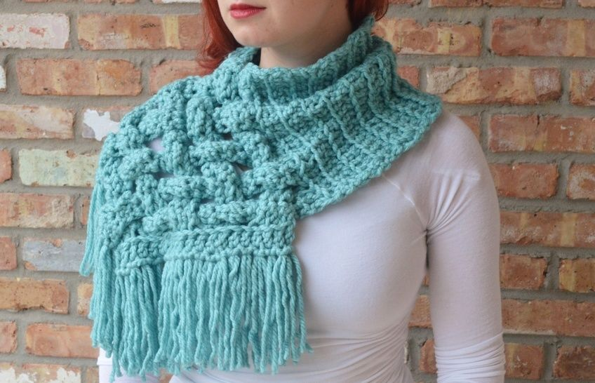 Crochet Woven Scarf - Celtic Crochet Scarf at Makerist - Image 1