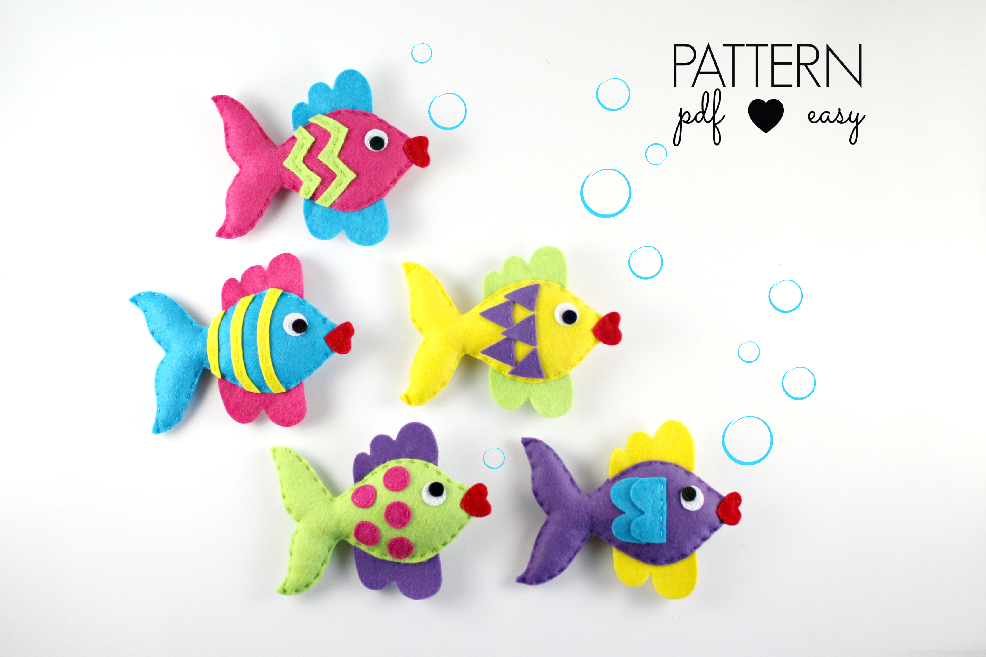 Felt Fish Pattern - Fish Sewing Pattern