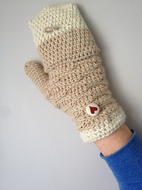 Sweetheart - mitaines transformables à crocheter