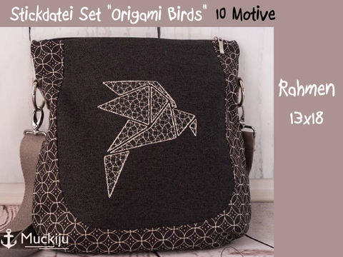 "Stickdatei Set ""Origami Birds"" 13x18"