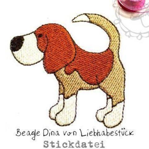 Doodle Stickdatei Beagle Dina