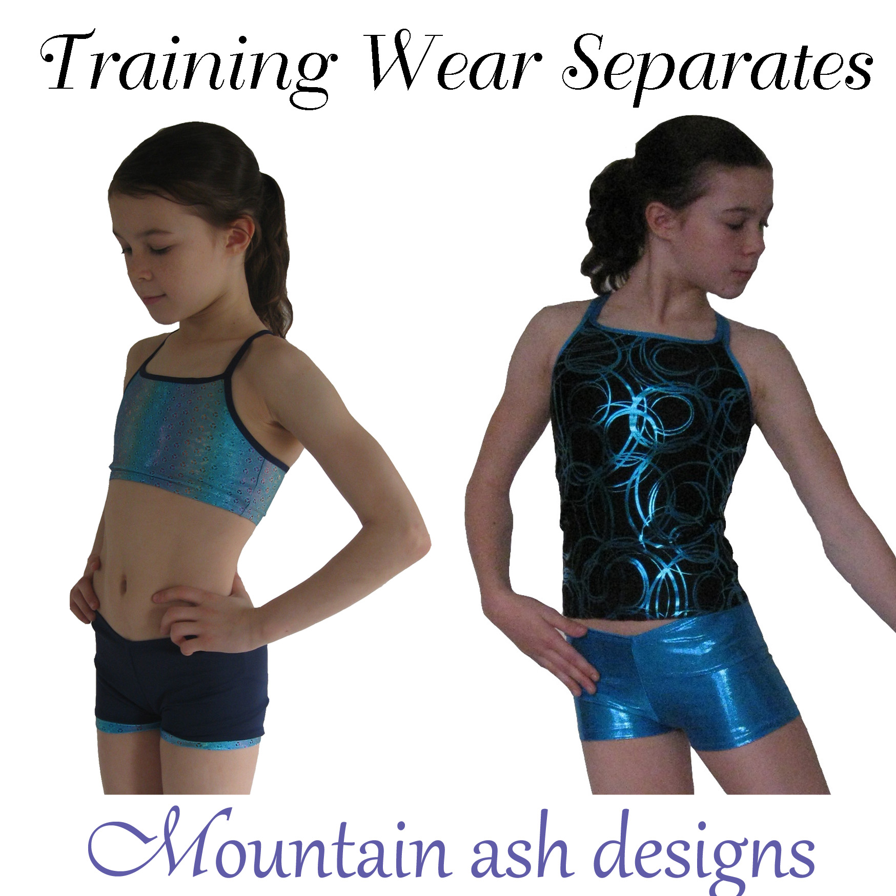 Training Wear Separates 1 Crop Top, Singlet & Shorts for Gymnastics & Dance in Girls Sizes 2-14