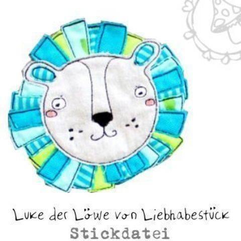 Doodle Stickdatei Luke der kleine Löwe