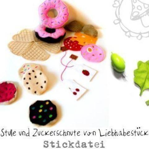 Stickdatei Zuckerschnute und Stulle,  für den Kaufladen