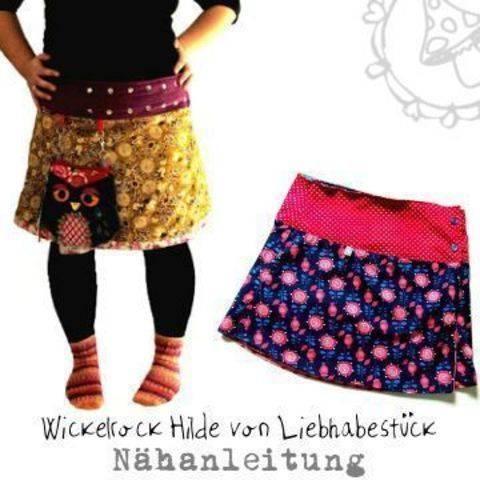 Wickelrock Hilde, in kurz und lang und Frau und Kind...