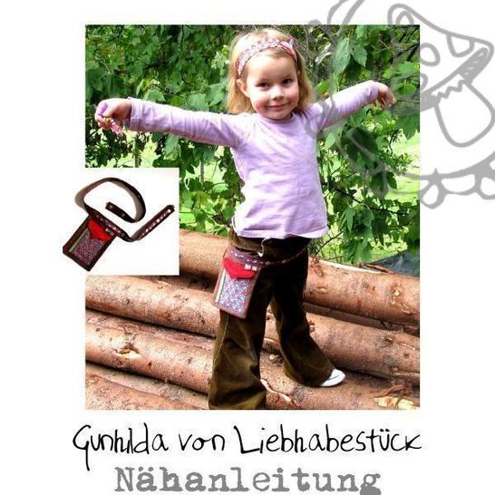 Nähanleitung Gunhilda die Gürteltasche. Einfach zum um die Hüfte binden oder als Ergänzung zu meiner Anleitung Hilde bei Makerist - Bild 1