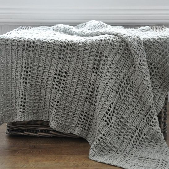 Silver Squares Crochet Baby Blanket  at Makerist - Image 1