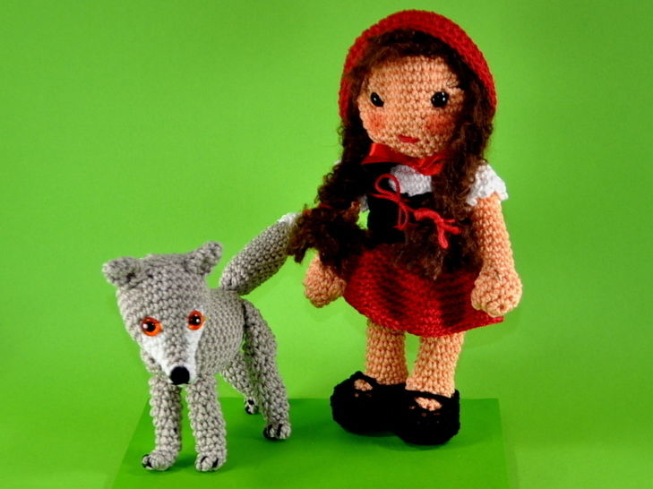 little red riding hood and the wolf crochet pattern at Makerist - Image 1