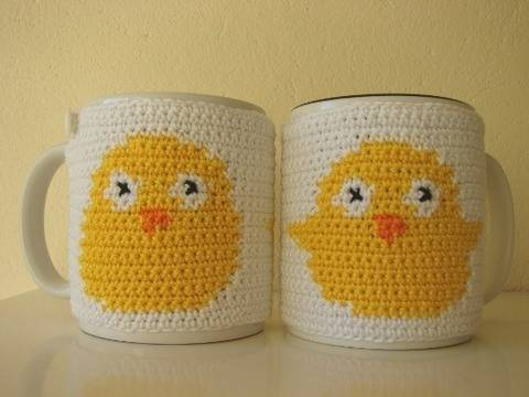 mug cosy Easter - crochet pattern - chick at Makerist