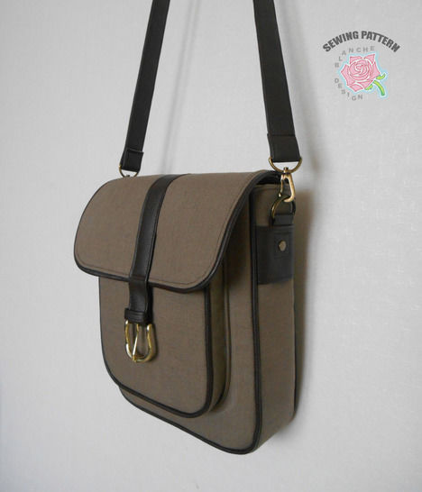 Unisex Crossbody Bag Pattern at Makerist - Image 1