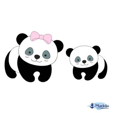 "Stickdatei 13x18 ""Panda krabbelt"" Doodle bei Makerist"