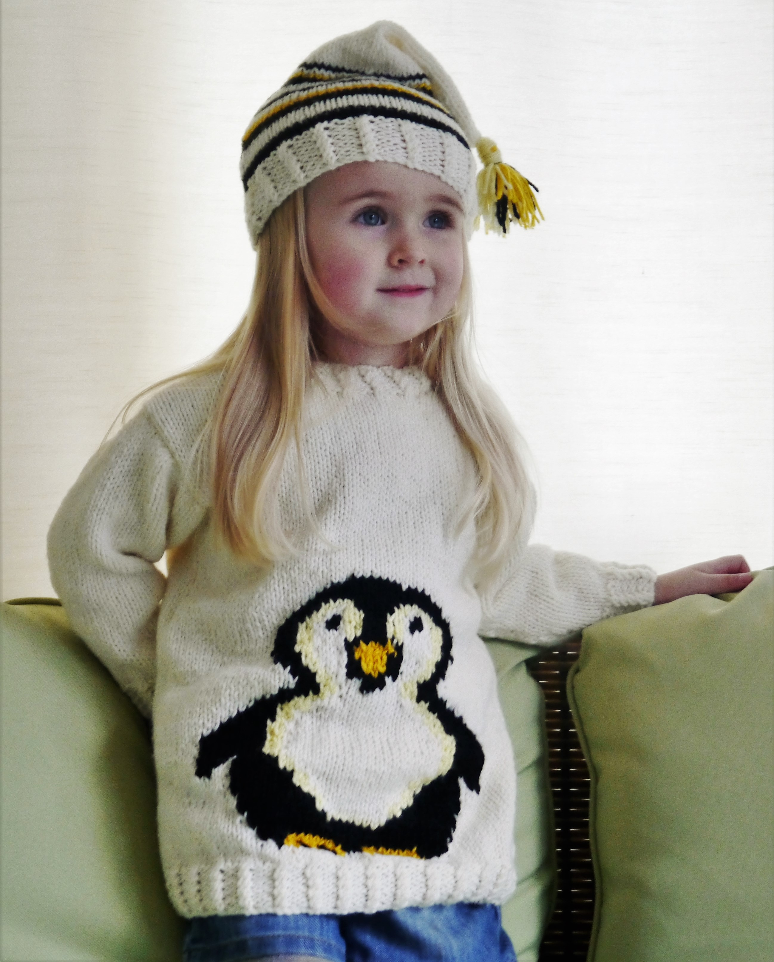 Penguin Sweater and Hat