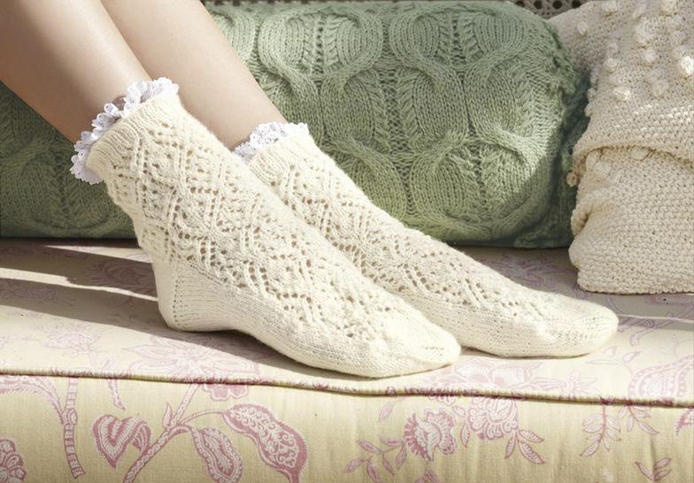 Socken Rosely Strickanleitung bei Makerist - Bild 1