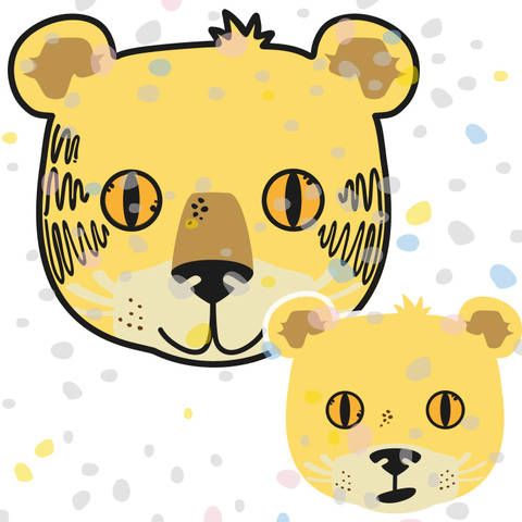 Plottermotiv Löwe und Tiger