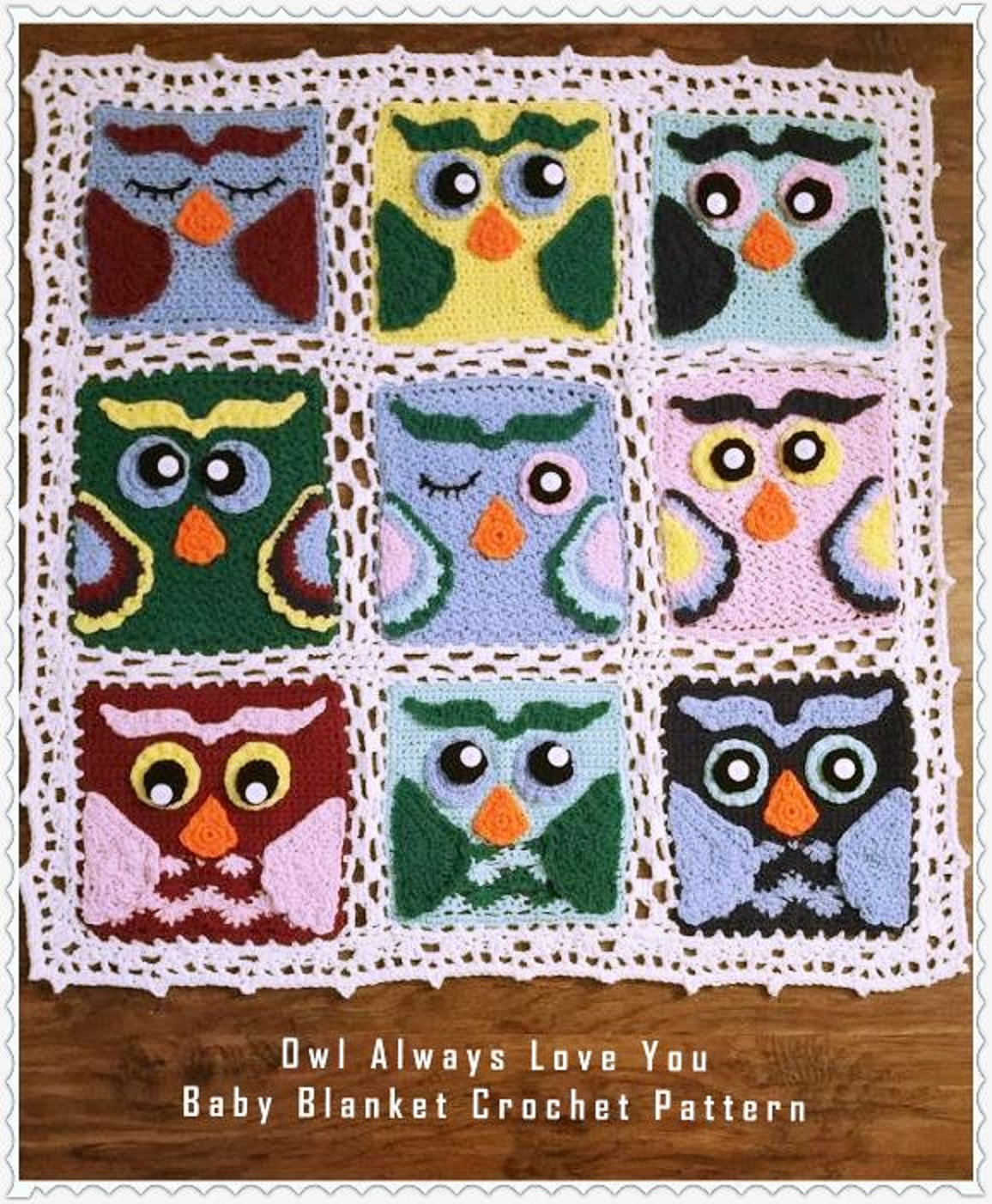 Owl Always Love You Baby Afghan Crochet Pattern