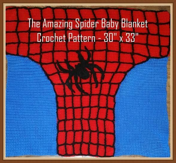 The Amazing Spider Baby Blanket Crochet Pattern  at Makerist - Image 1