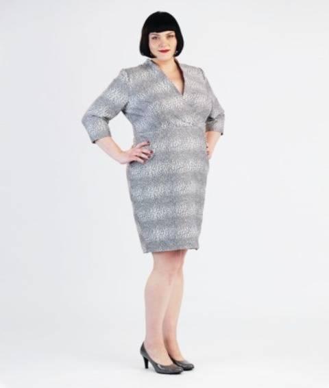 Schnittmuster und Nähanleitung Kleid Jeannie für große Größen