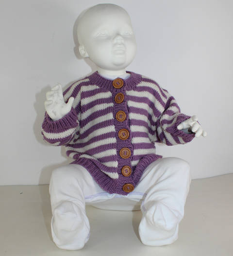 Baby Stripe Cardigan at Makerist