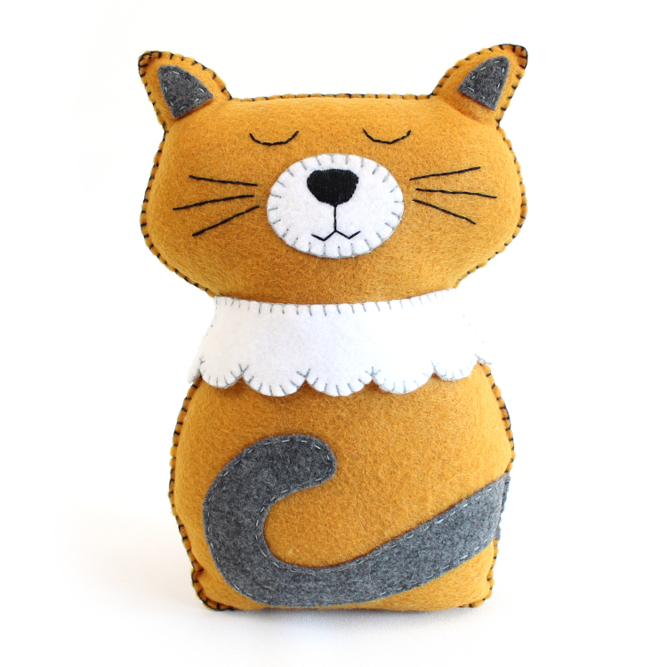 Cat Hand Sewing Pattern