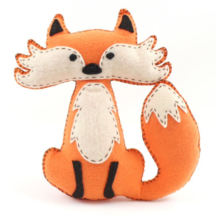 Fox Hand Sewing Pattern
