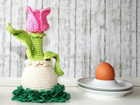 Tulip - Egg Sitter - Egg Cozy - Crochet Pattern at Makerist