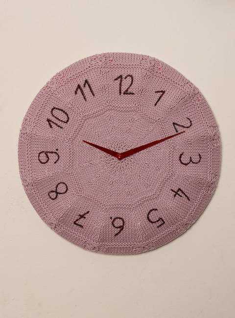 Wohnaccessoires Strick-Uhr Klokke
