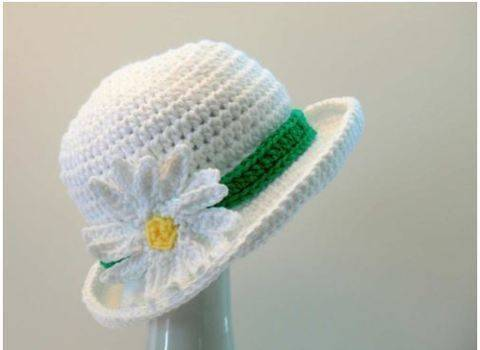 Daisy Sun Hat Crochet Pattern Baby, Girls to Womens X Large at Makerist